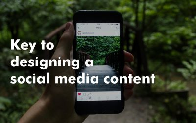 Making the content visually attractive:  Key to designing a social media content